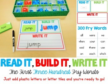 Read It, Build It, Write It - The First 300 Fry Words - Wi