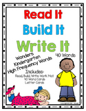 Read It, Build It, Write It Wonders High Frequency Word Activity Set Kindergaten