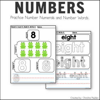 STEM Number Writing Practice 0-20