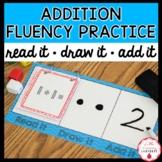 Addition to 10 Fluency Practice Game | Read It, Draw It, Add It, Flip It