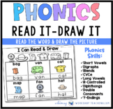 Read It Draw It Phonics Literacy Center from Phonics Bundle 8