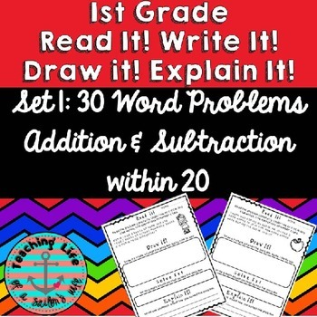 Read It! Draw It! Solve It! Explain It! - 30 Primary Daily Word Problems - Set 1