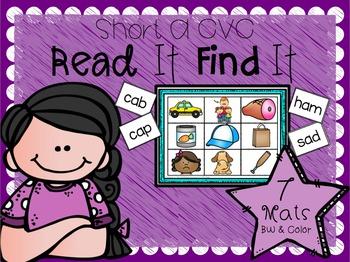 Read It Find It (Short A CVC)