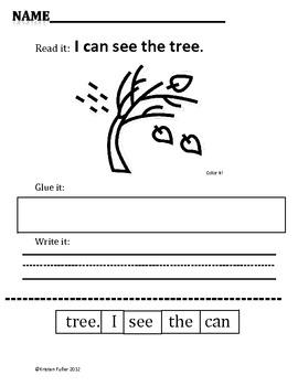 Read It, Glue It, Write It: FALL Sentence-Building Activities