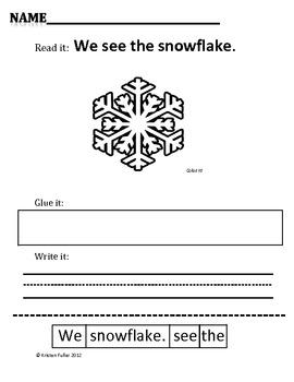 Read It, Glue It, Write It: Winter Sentence-Building