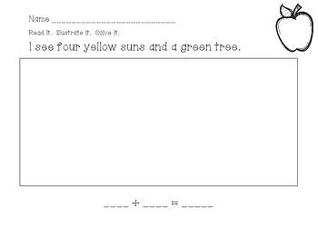 Read It!  Illustrate It!  Solve It!  Math Morning Work