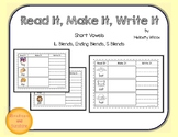 Word Work Center Read, Make, Write Short Vowels and Blends