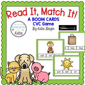 Read It, Match It CVC BOOM CARDS