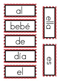 Read It, Spell It, Write It Activity in Spanish