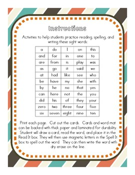 Read It, Spell It, and Write It (English)
