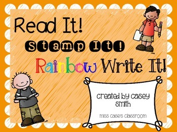 Read, Stamp, Rainbow Write It! Word Work for Spelling, Sight Words & Vocabulary
