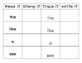 Read It, Stamp It, Trace It, Write It