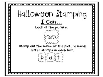 Read It, Stamp It, Write It (Halloween Edition)