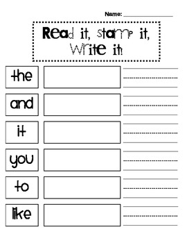 Read it stamp it write it sight word game by chaotic fun tpt read it stamp it write it sight word game sciox Image collections