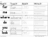 Read It, Trace It, Build It, Write It-Harcourt Storytown K