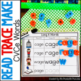 Long Vowel CVCE Word Work - Read It, Trace It, Make It