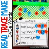 Long Vowel CVCE Word Work - Read It, Trace It, Make It
