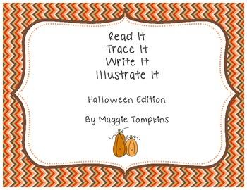 Read It, Trace It, Write It, Illustrate It