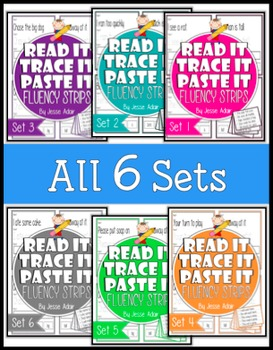 Read It, Trace It, and Paste It Fluency Strips Bundle