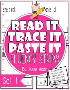 Read It, Trace It, and Paste It Fluency Strips Set 1