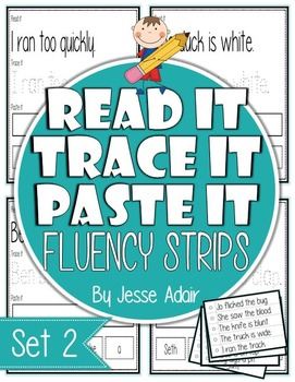 Read It, Trace It, and Paste It Fluency Strips Set 2