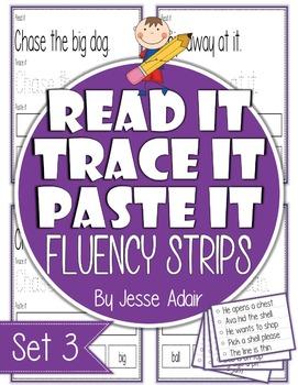 Read It, Trace It, and Paste It Fluency Strips Set 3