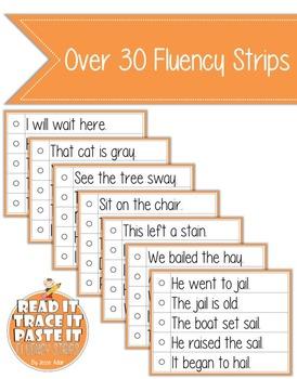 Read It, Trace It, and Paste It Fluency Strips Set 4