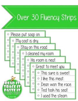 Read It, Trace It, and Paste It Fluency Strips Set 5
