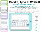 Read It, Type It, Write It - A Dolch Sight Words Activity with Editable Template