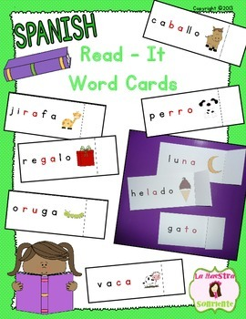 Read-It Word Cards: Open Syllables (Spanish)