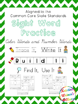 Sight Word Freebie {Trace It, Write It, Build It, Find It, Use It}