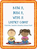 Read It, Write It, Build It - Literacy Center
