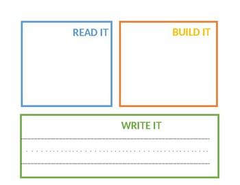 Read It - Write It - Build It Mats