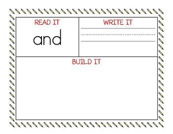 Read It, Write It, Build It (Sight Word Practice!)