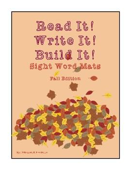 Read It! Write It! Build It! fall edition (inc 100 K-2nd sight words)