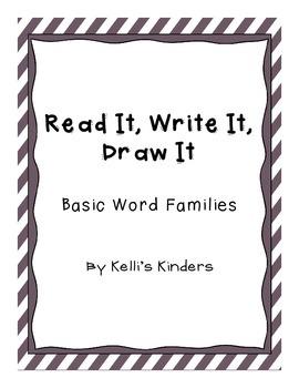 Read It, Write It, Draw It- Word Families