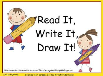 Read It, Write It, Draw It! (reading/writing simple words)