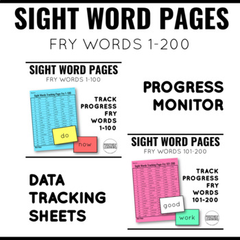 Read It Write It Find It  Fry Sight Words BUNDLE