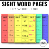 Sight Word Practice 100 Fry Words