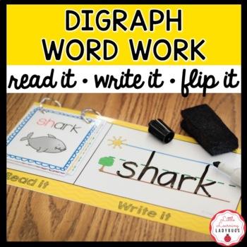 Read It, Write It, Flip It! Word Work Activity {Digraph Edition}
