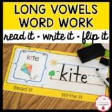 Read It, Write It, Flip It! Word Work Activity {Long Vowel Edition}
