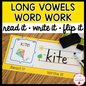 Read It, Write It, Flip It! Word Work Activity {Long Vowel