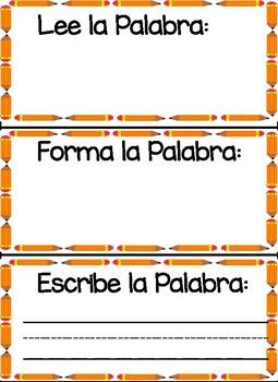 Read It Write It Make It Lee la Escribe la Forma La palabra 2-Palabras 25-48