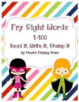 Read It, Write It, Stamp It Fry 1-100