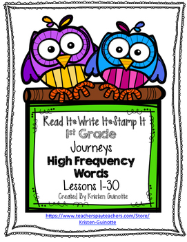 Read It Write It Stamp It High Frequency Words