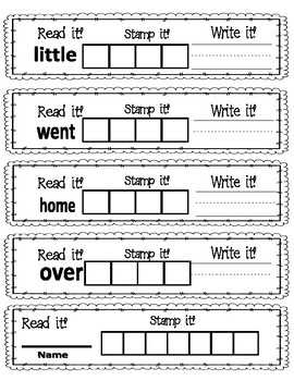 Read It, Write It, Stamp It Sight Words 5