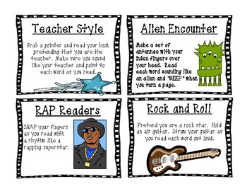 Read It to ME Fluently Guided Reading Cards