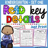 Reading Comprehension for Kindergarten to Second Grade (Read Key Details)