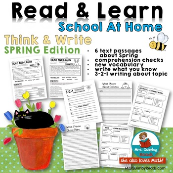 Read & Learn | Think & Write | Distance Learning | School At Home