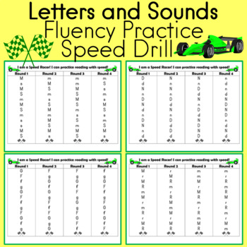 Letters and Sounds Fluency Practice (speed drill)